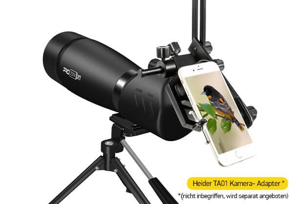 Heider pro zoom x1 land teleskop and heider ta01 universal metal